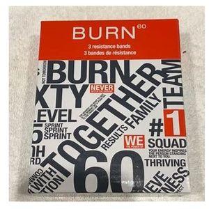Burn60 *3* Resistance Bands